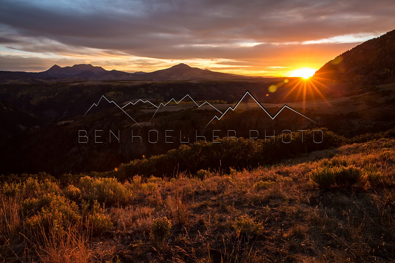 San Juan Range, CO at Sunset