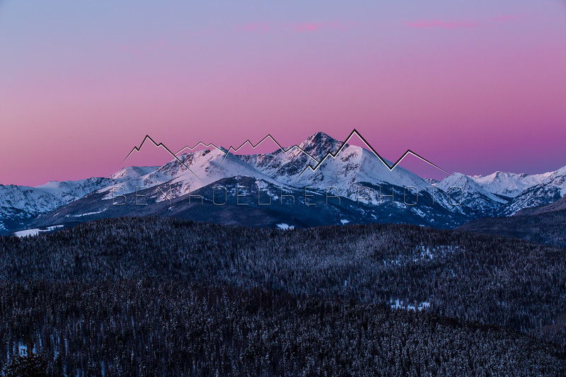 Sunrise alpenglow in the Northern Sawatch Range, CO