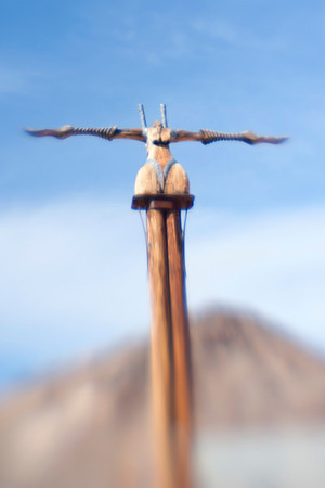 Sculpture at Rhyolite NV