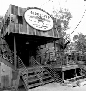 10-15-12 The Blue Star Brewery was a mere 1.5 mile walk down the RiverWalk away from the city yet it felt worlds away.