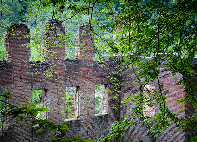 06-28-14 The mill ruins at Sweetwater Creek State Park.  With the fence protecting the ruins from vandalism, it is tricky to get a good shot.