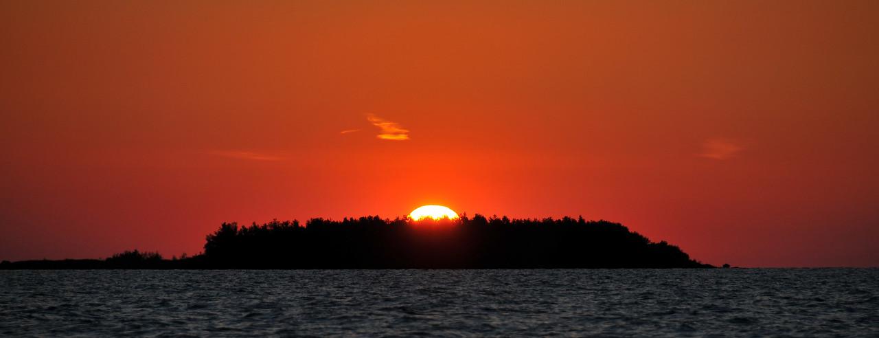 Sunset over Gull Island, Lake Huron, MI - May 2012