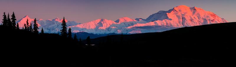 Mt Denali Alpenglow