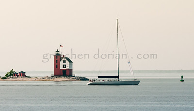 WINDANCER | Leaving Mackinac Island | Round Island Lighthouse