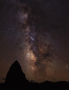 Milky Way over the Temple of the Sun, Capitol Reef UT