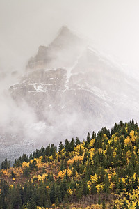 Low clouds in Glacier NP, Montana.