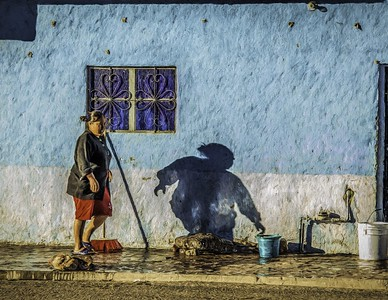 Painted Street Scene