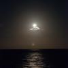 moon over sea in Bahamas