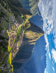 Sunrise at Machu Picchu. Peru.