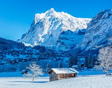 Wetterhorn from Grindelwald