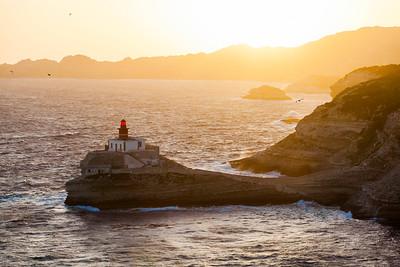 Pointe De La Madonetta Lighthouse, Bonifacio, Corsica, France