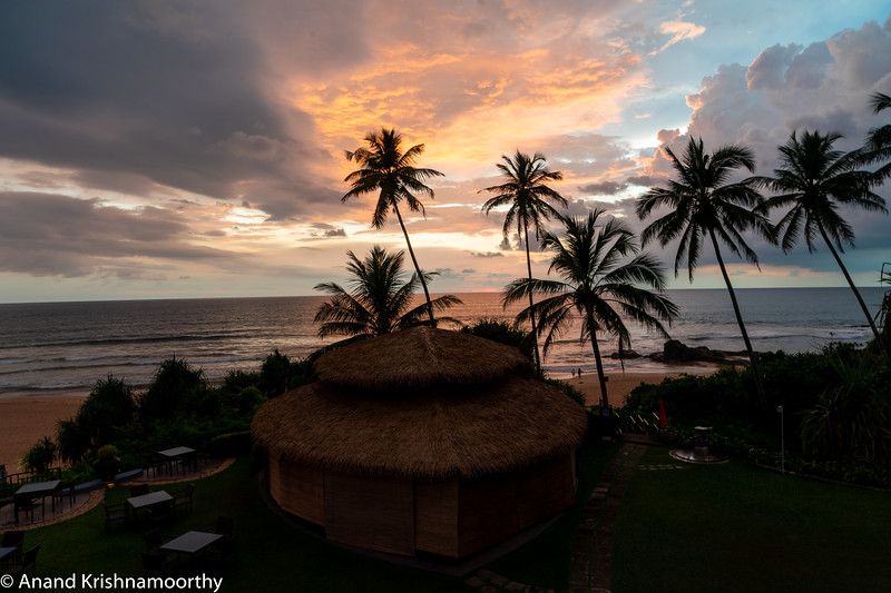 Sunset at Bentota beach, Sri Lanka