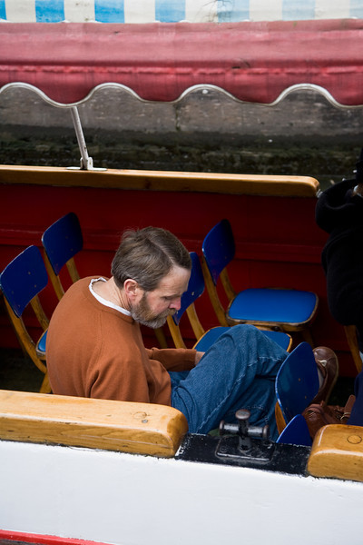 One of my favorites. I really like the pensive attitude of this gentleman on a boat trip on Camden Lock.