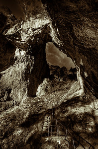 Here is another one with a black and white treatment - Jenolan Caves, NSW