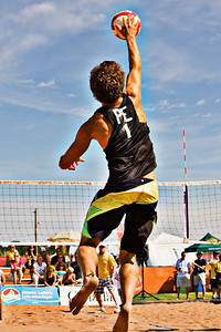 PE Serves at Canada Games Beach Volleyball