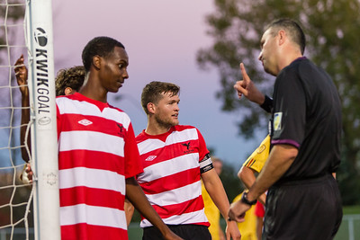 Referee lays down the law with the captain