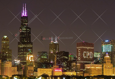 Chicago Skyline, night shot