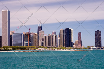 Chicago skyline, as seen from the museum  campus.
