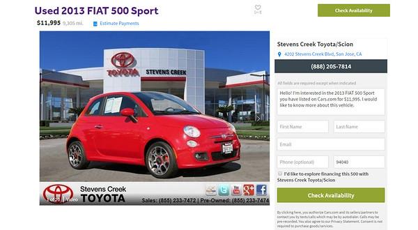 My Fiat 500 Sport