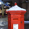 Red postbox in the Square, Shrewsbury