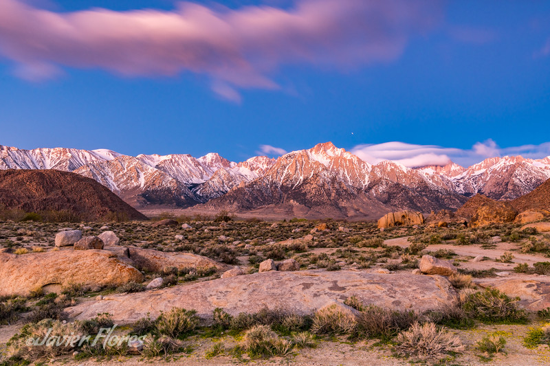 Sunrise at Alabama Hills