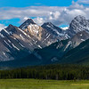 Canadian Rocky mountains with dramatic clouds
