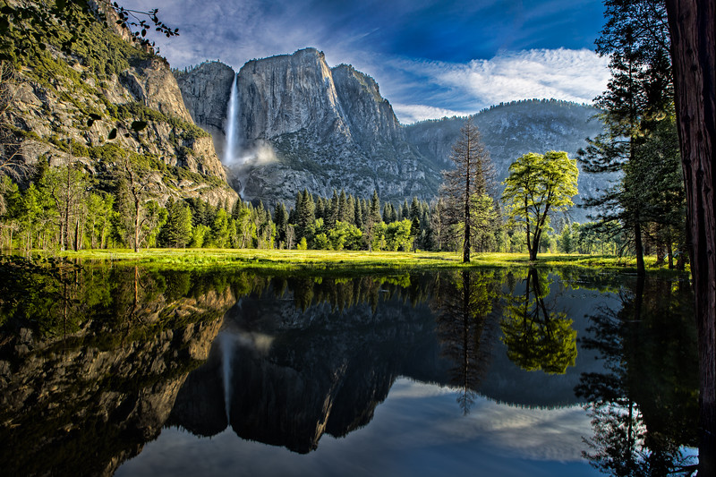 Yosemite Falls Valley and Reflection