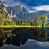 Yosemite Falls Valley and Reflection