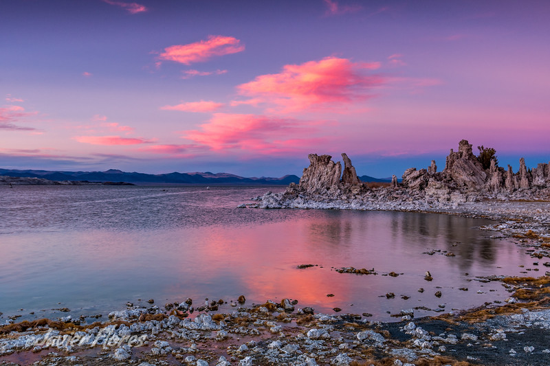 Colorful sunset at Mono Lake