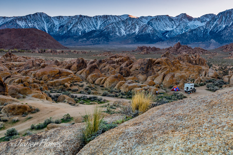 Camping at Alabama Hills
