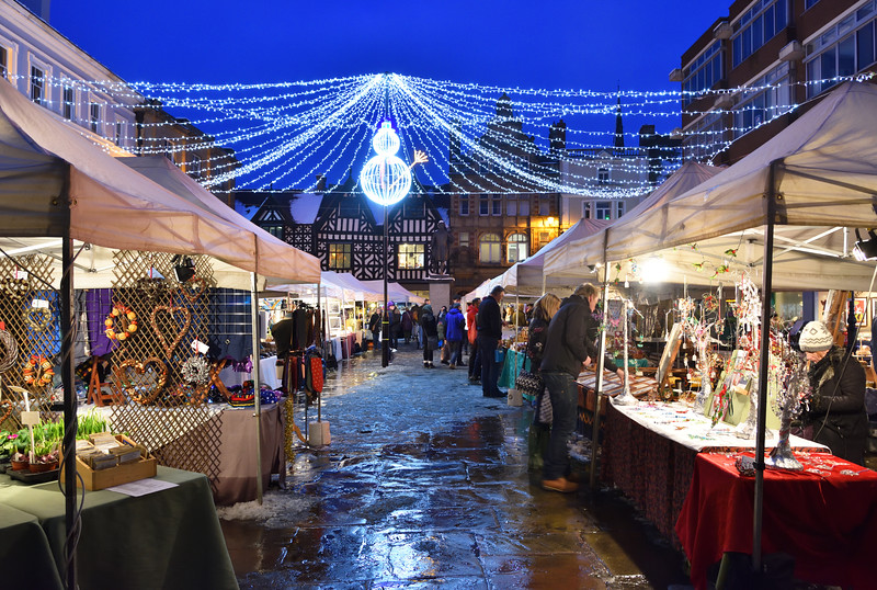 The Christmas Market at the  Square, Shrewsbury.
