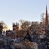 A view of the  town centre skyline, Shrewsbury.
