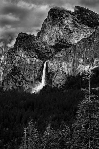 Bridalveil Falls and Cathedral Rock
