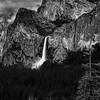 Bridalveil Falls and Cathedral Spires