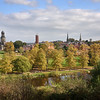 A view of the town from Shrewsbury school.