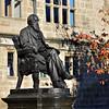 Charles Darwin statue by the library, Shrewsbury.