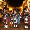 Shrewsbury Xmas lights switch on.<br /> The Cannock Pipe Band lead the lantern parade.