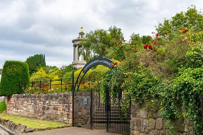 Robert Burns Memorial in Alloway near Ayr Scotland in Summer Scotland