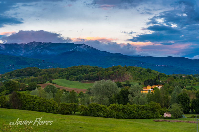 Tuscany Rolling Hills, Sunset