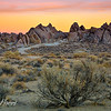 Sunrise over Alabama Hills