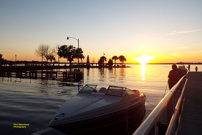 Sunset over looking Lake Dora