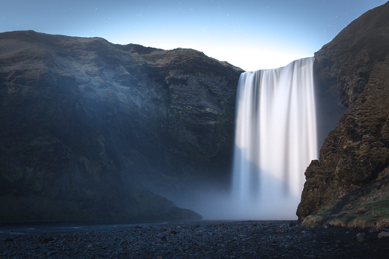 Skogafoss at 2am