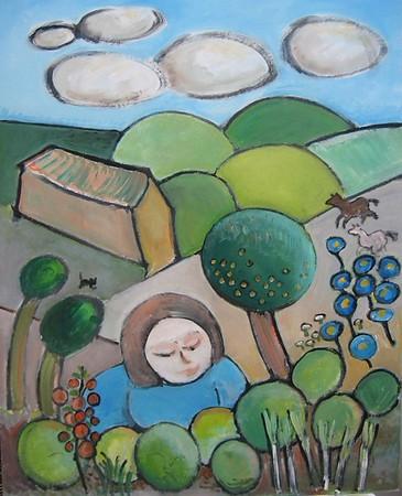 Susanne i haven
