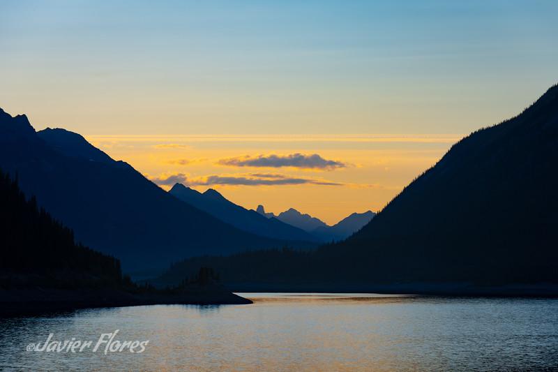 Sunset Canadian Rockies