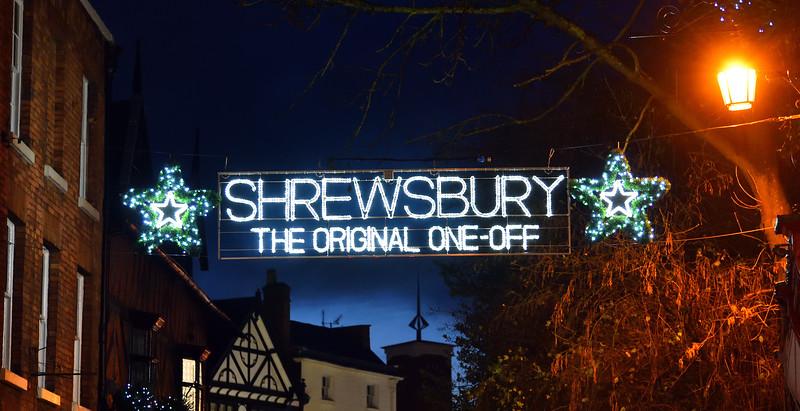 Shrewsbury Christmas lights, Original one off.