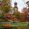 The  Dingle and St. Chads church, Shrewsbury in Autumn.