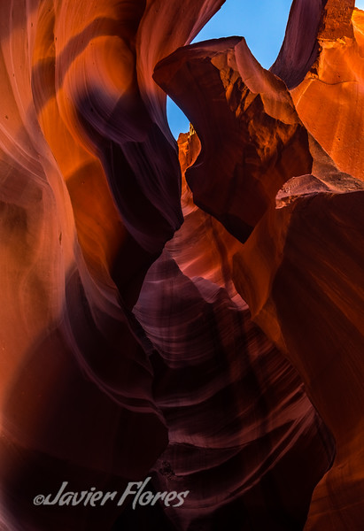 Colorful slot canyon
