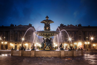 Fontaine Place de la Concorde Paris