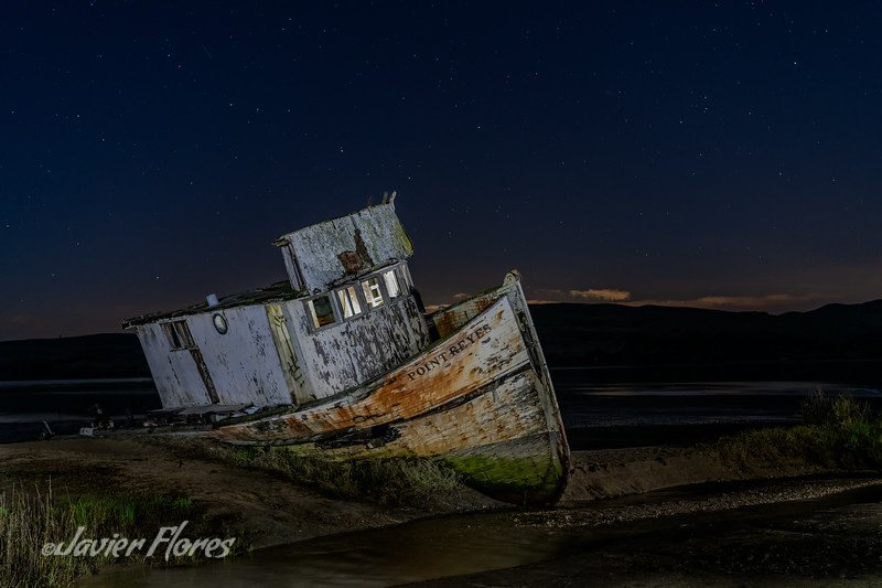 Point Reyes Shipwreck with Star-Filled Sky