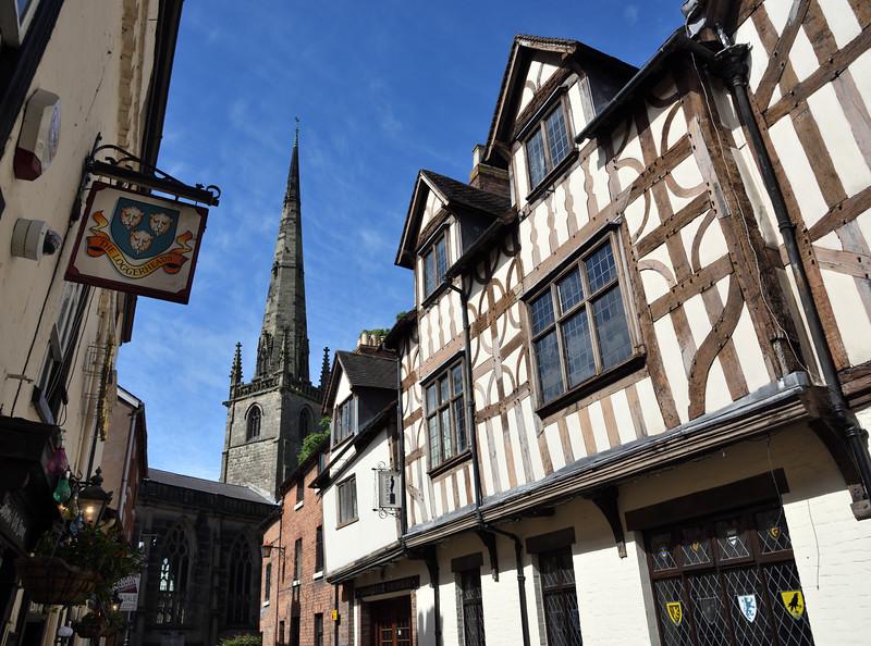 Church Street and St Alkmunds church, Shrewsbury